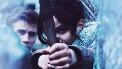 katniss bow gifs tenor katniss gale hunting gif arrow bowarrow bowandarrow gifs