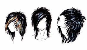 emo hair boy hal