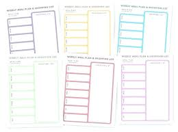 Daily Food Planner Free Printable Meal Plan Template Planning Weekly Diet Planner Pdf