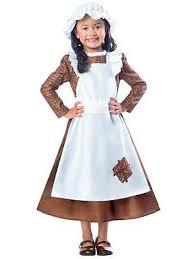 Child Victorian Maid Poor Girls Book Day Week New Fancy Dress Costume Kids  3 12