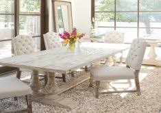 classic home furniture reclaimed wood image of white trestle dining table