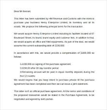 letter of intent to purchase business template business agreement sample letter