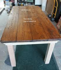 Pine Farmhouse Kitchen Table Remodelaholic Build A Farmhouse Table For Under 100
