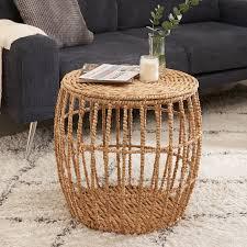 lockwood drum coffee table with storage