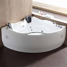Jetted freestanding tubs Ariel Eago Am125etl 5 Double Corner Acrylic White Whirlpool Freestanding Bathtubs Front View In Bathroom Luxury Freestanding Tubs Eago Am125etl 5 Double Corner Acrylic White Whirlpool Bathtub