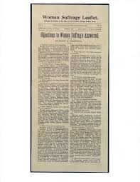 henry b blackwell essay objections to w suffrage answered  you can more about the w s journal here