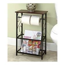 Bathroom Storage Table Toilet Paper Holder Bath Caddie Magazine ...