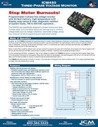 icm 450c 3 phase line voltage monitor icm 450 3 phase line details