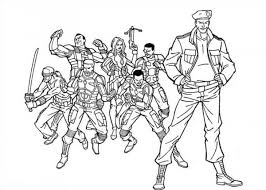 Small Picture How to Draw GI Joe Coloring Pages Batch Coloring