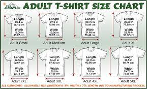 3xl Shirt Size Chart Sizing