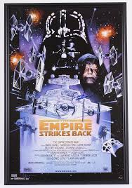 framed star wars poster sports memorabilia auction pristine auction printable