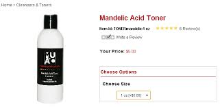 s i found that makeup artist choice had great reviews about their s after visiting their i saw that their mandelic acid toner