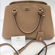NWT Coach Nude Small Margot Carryall Satchel Bag