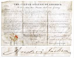 Indian removal act andrew jackson Summary Andrew Jackson 1831 Land Grant Signed As President During The Infamous Trail Of Tears Nate D Sanders Lot Detail Andrew Jackson 1831 Land Grant Signed As President