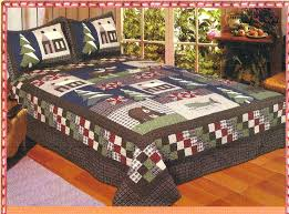 lodge quilts mountain trip full queen quilt set cabin bear moose deer fish comforter bedding sets