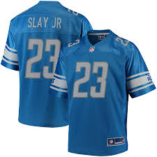 Detroit Color Jersey Nfl Youth Team Blue Pro Line Player Slay Jr Darius Lions|History Of The Chicago Bears