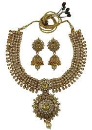 matra indian ethnic traditional goldtone necklace earring set bollywood party jewelry you can get more dels by ing on the image