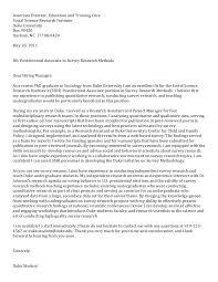 Post Doc Cover Letter Sociology