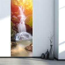 <b>2</b> sheets/pcs <b>3D Delicate</b> Landscape Door Sticker Waterfall on the ...