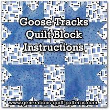 Goose Tracks Quilt Block Tutorial - 5