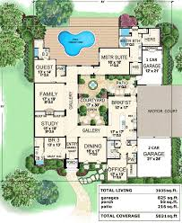 luxury house plans with courtyards awesome house floor plans with center courtyard