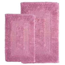 pink bathroom rugs rose 1 ft in x 2 ft in cotton 2 jcpenney pink bath