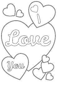I Love You Coloring Page Pages Hearts Small Heart For Adults Human