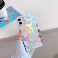 Buy Laser Cow Pattern Phone Cases Compatible with iPhone 11 Silicone Case  Full Body Shockproof Protective Cover for Apple iPhone 11 6,11 inch -  Silver Online in Indonesia. B097PYCYBS