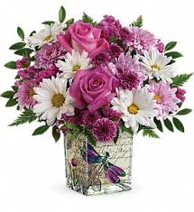 teleflora s wildflower in flight bouquet in oklahoma city ok cheever s flowers