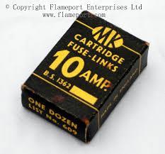 mk 10 amp bs1362 cartridge fuse links box of fuses id unturned 609 box of one dozen 10 amp fuses