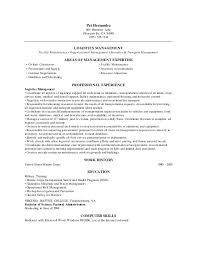 Logistics Management Resume Logistics Manager Cv Template