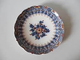 Kleiner Wandteller 17cm florales Dekor in blau braun, MAKKUM AVA Holland |  eBay