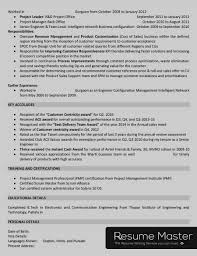 Telecom Project Manager Resume Master