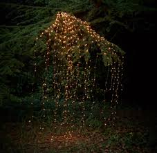 Us 7 49 25 Off Outdoor Led Solar Lights String Waterfall Fairy Icicle Lights 300 Luces Christmas Tree Light For Holiday Party Garden Decoration In