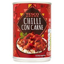 chili can.  Can Tesco Chilli Con Carne 400G Throughout Chili Can
