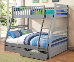 Kids Bedroom Furniture Bunk Beds Coaster Furniture 460182 Twin Over Full Grey Bunk Bed Full Size