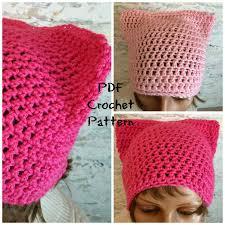 Pussyhat Pattern Unique Pussy Cat Hat Crochet Pattern Pussy Hat Pattern PDF Download