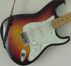 vintage guitars collector fender collecting vintage guitars a 1959 strat a maple neck and an 8 screw three layer celluloid pickguard