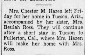 Mary Myrtle Bates (Mrs Chester Hazen) - Newspapers.com