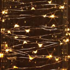 Everlasting Glow Garland Lights Gerson 38653 60 Light 10 Silver Wire Warm White Electric