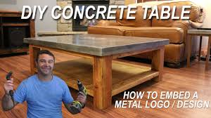 Image Wood How To Make Concrete Coffee Table And How To Embed Metal Design In Concrete Diy Pete Youtube How To Make Concrete Coffee Table And How To Embed Metal Design
