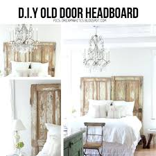 old door headboard ideas antique old chippy door headboard