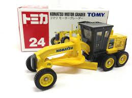 new an tomy tomica no 24 komatsu motor grader construction truck ebay