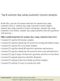 Summer Camp Counselor Job Description For Resume Traveltourswall Com