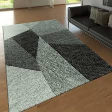 geometric rug black and grey living room carpet small large mats hall runner 300