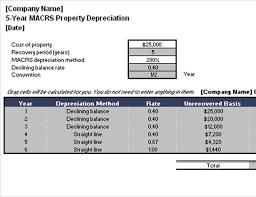 Macrs Property Depreciation