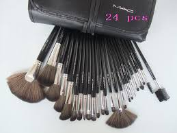 24 black brush brush tools cosmetics piece mac professional makeup set set