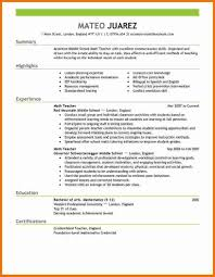 examples of resumes best cv format for teachers  12 best cv format for teachers 2016 attendance sheet inside 87 inspiring the best resume