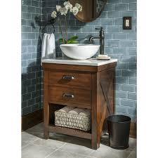 24 vessel sink vanity. Plain Vanity Shop Allen  Roth Cromlee Bark Vessel Poplar Bathroom Vanity With  Engineered Stone Top Faucet Included Common 24in X 19in Actual 19in At  In 24 Sink