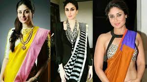 Kareena Kapoor Blouse Design In Gabbar Is Back Latest Designer Trendy Bollywood Fashion Kareena Kapoor